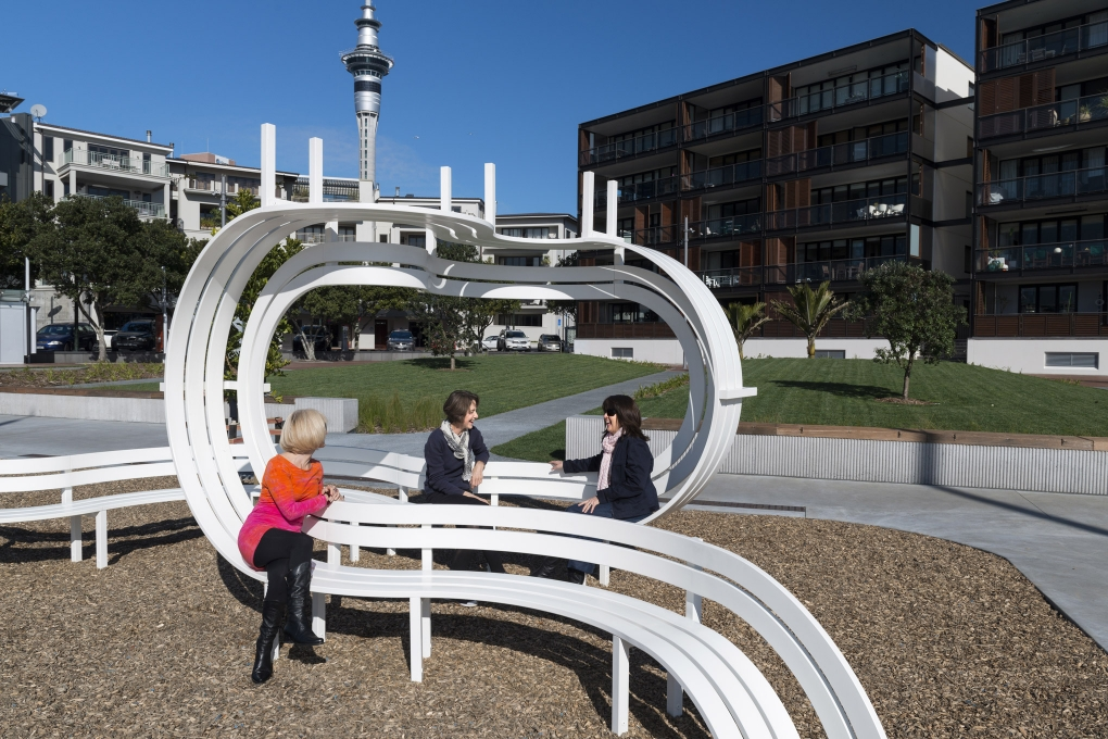 Jeppe Hein - Long Modified Bench Waitemata Green
